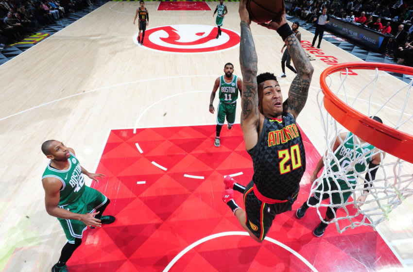 John Collins #20 of the Atlanta Hawks (Photo by Scott Cunningham/NBAE via Getty Images)