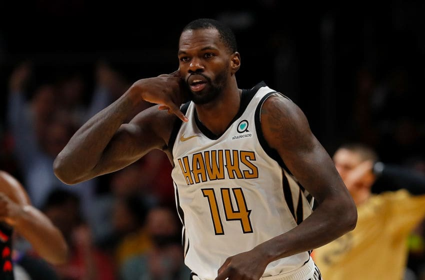 Dewayne Dedmon #14 of the Atlanta Hawks NBA Free Agency (Photo by Kevin C. Cox/Getty Images)