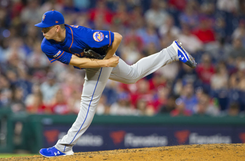 PHILADELPHIA, PA - JUNE 25: Chris Flexen #64 of the New York Mets, now of the Seattle Mariners, throws a pitch against the Philadelphia Phillies at Citizens Bank Park on June 25, 2019 in Philadelphia, Pennsylvania. (Photo by Mitchell Leff/Getty Images)