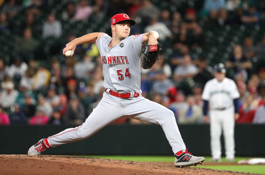 SEATTLE, WASHINGTON - SEPTEMBER 11: Sonny Gray #54 of the Cincinnati Reds pitches against the Seattle Mariners in the sixth inning during their game at T-Mobile Park on September 11, 2019 in Seattle, Washington. (Photo by Abbie Parr/Getty Images)