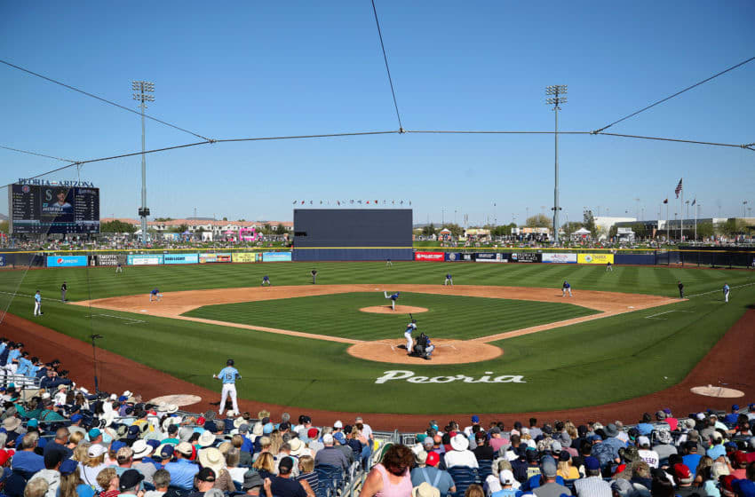 PEORIA, ARIZONA - FEBRUARY 24: View of the Peoria Stadium, where the Seattle Mariners partake in Spring Training. (Photo by Christian Petersen/Getty Images)