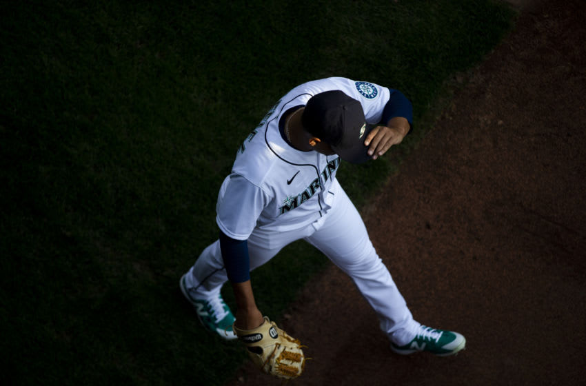SEATTLE, WA - SEPTEMBER 05: Justus Sheffield of the Seattle Mariners warms up in the bullpen. (Photo by Lindsey Wasson/Getty Images)