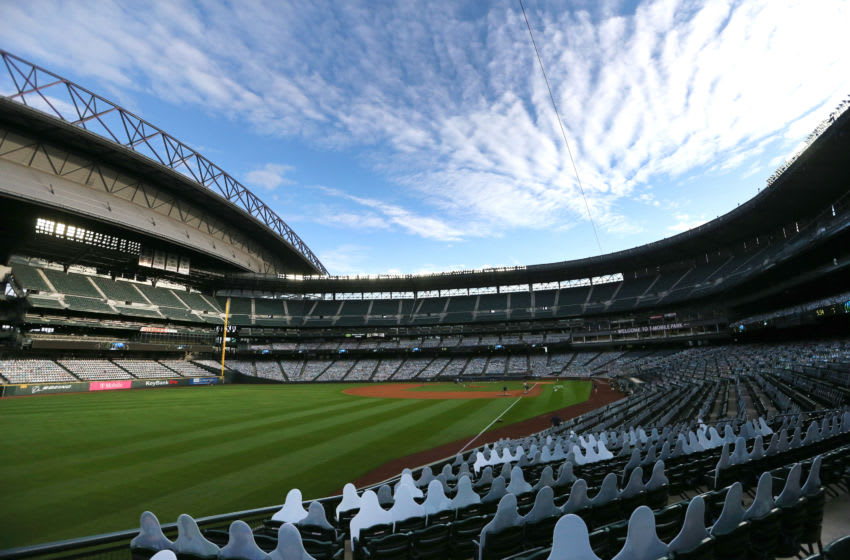 SEATTLE, WASHINGTON - SEPTEMBER 21: A general view of at T-Mobile Park before a game between the Seattle Mariners and Houston Astros. (Photo by Abbie Parr/Getty Images)