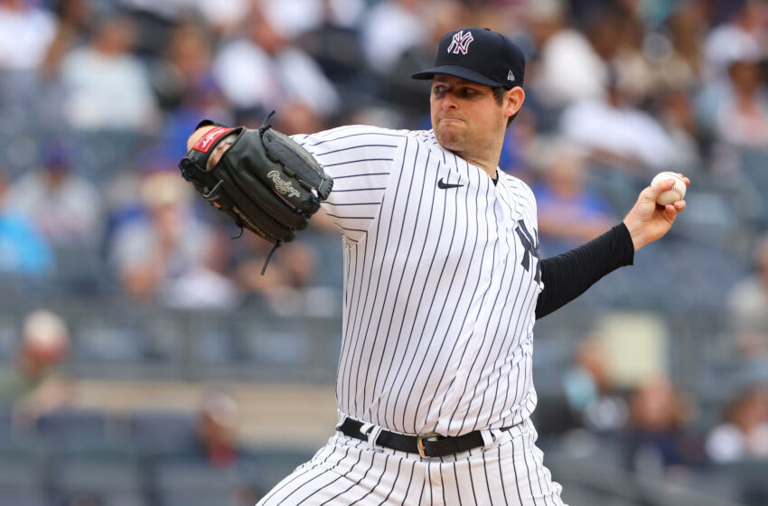 NEW YORK, NY - JULY 03: Jordan Montgomery #47 of the New York Yankees in action against the New York Mets during a game at Yankee Stadium on July 3, 2021 in New York City. (Photo by Rich Schultz/Getty Images)