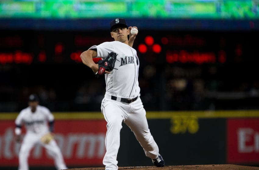 SEATTLE, WA - APRIL 02: Marco Gonzales #7 of the Seattle Mariners pitches in the first inning against the Los Angeles Angels of Anaheim at T-Mobile Park on April 2, 2019 in Seattle, Washington. (Photo by Lindsey Wasson/Getty Images)