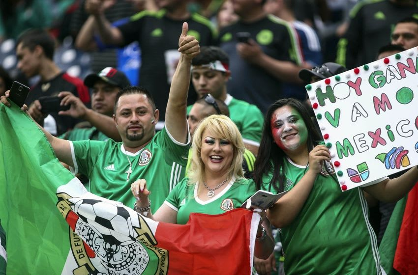 Jun 13, 2016; Houston, TX, USA; Fans cheer before a match between Venezuela and Mexico during the group play stage of the 2016 Copa America Centenario at NRG Stadium. Mandatory Credit: Troy Taormina-USA TODAY Sports