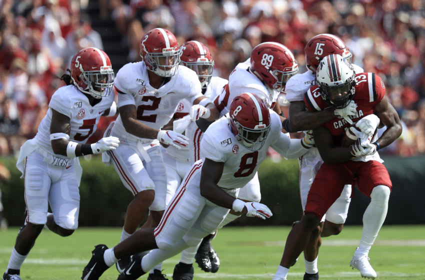 Christian Harris of the Alabama Crimson Tide (Photo by Streeter Lecka/Getty Images)