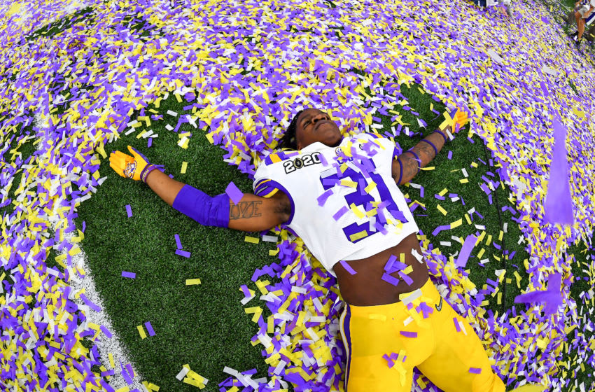 Cameron Lewis of the LSU Tigers (Photo by Alika Jenner/Getty Images)