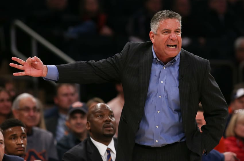 NEW YORK, NY - DECEMBER 12: Head coach Bruce Pearl of the Auburn basketball Tigers reacts against the Boston College Eagles in the first half of the Under Armour Reunion at Madison Square Garden on December 12, 2016 in New York City. (Photo by Michael Reaves/Getty Images)