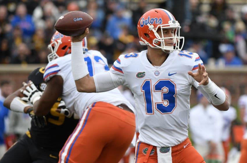 COLUMBIA, MO - NOVEMBER 4: Florida Gators quarterback Feleipe Franks