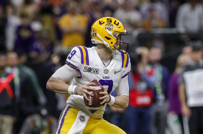 Quarterback Joe Burrow #9 of the LSU Tigers (Photo by Don Juan Moore/Getty Images)