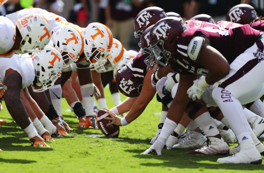 Tennessee Volunteers and the Texas A&M Aggies (Photo by Scott Halleran/Getty Images)
