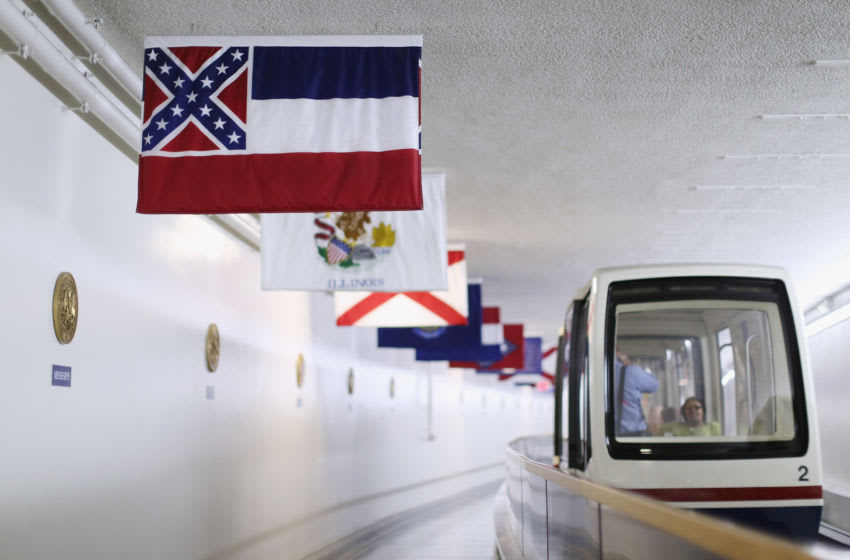 The state flag of Mississippi,(Photo by Chip Somodevilla/Getty Images)