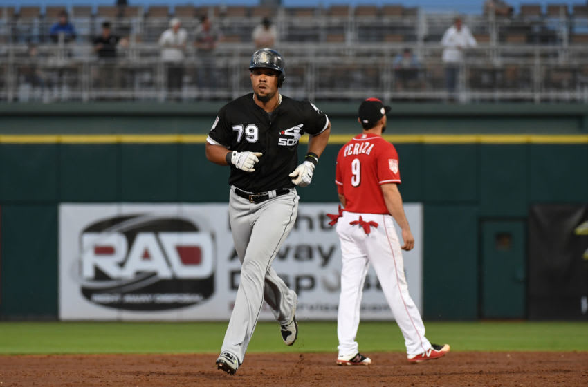 GOODYEAR, ARIZONA - MARCH 19: Jose Abreu #79 of the Chicago White Sox rounds the bases after hitting a home run during the third inning of a spring training game against the Cincinnati Reds at Goodyear Ballpark on March 19, 2019 in Goodyear, Arizona. (Photo by Norm Hall/Getty Images)