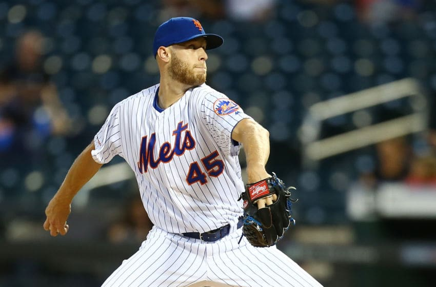 NEW YORK, NEW YORK - SEPTEMBER 10: Zack Wheeler #45 of the New York Mets pitches in the first inning against the Arizona Diamondbacks at Citi Field on September 10, 2019 in New York City. (Photo by Mike Stobe/Getty Images)