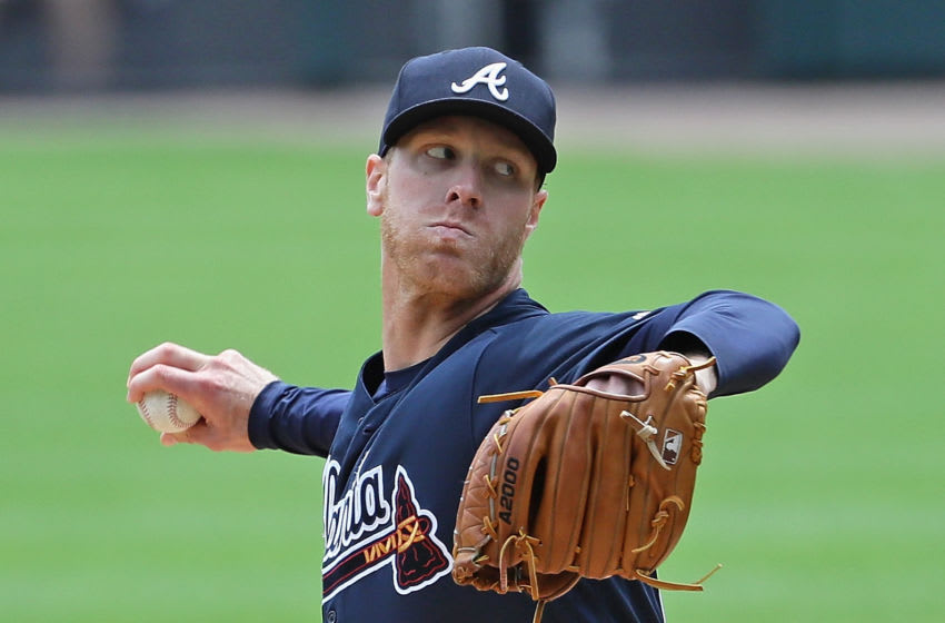 Free-agent pitcher Mike Foltynewicz. (Photo by Jonathan Daniel/Getty Images)
