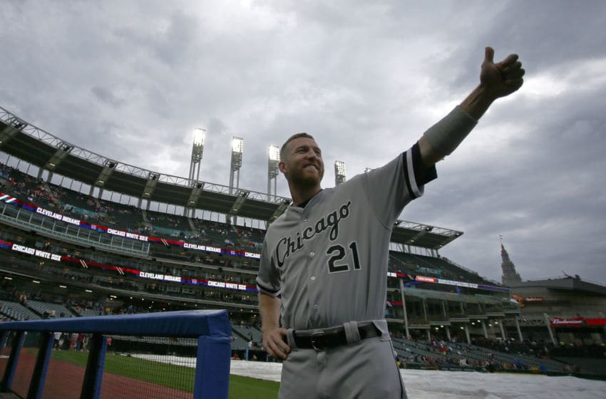 CLEVELAND, OH - JUNE 09: Todd Frazier #21 of the Chicago White Sox waves to fans before the game against the Cleveland Indians at Progressive Field on June 9, 2017 in Cleveland, Ohio. (Photo by Justin K. Aller/Getty Images)