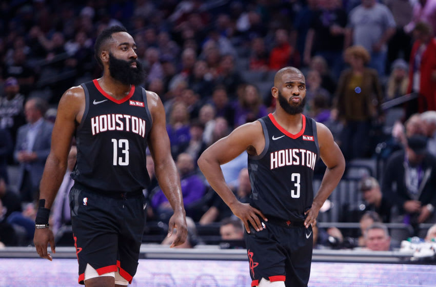 Houston Rockets James Harden Chris Paul (Photo by Lachlan Cunningham/Getty Images)