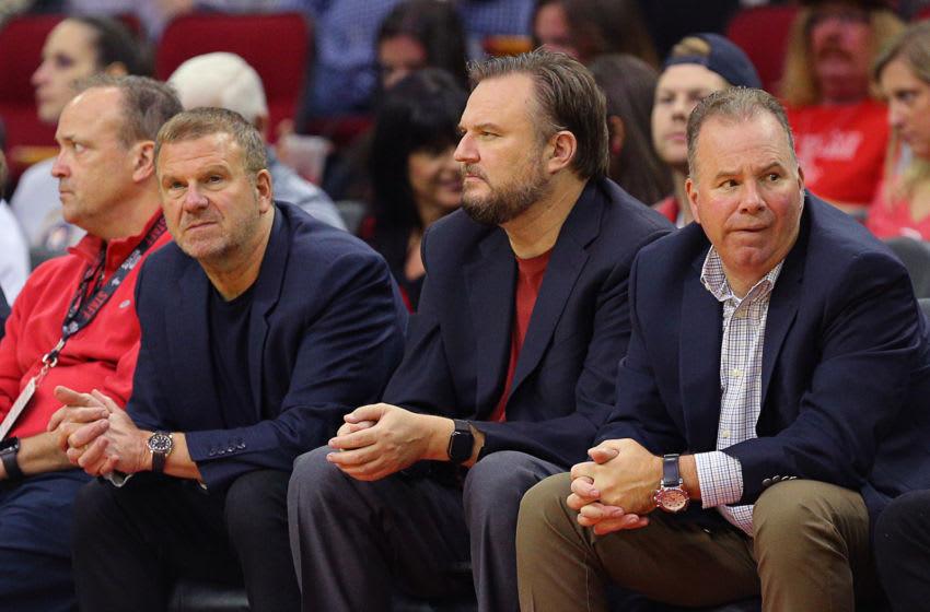Daryl Morey Tilman Fertitta Houston Rockets (Photo by Bob Levey/Getty Images)