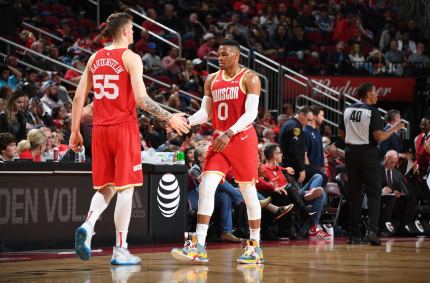 Houston Rockets Isaiah Hartenstein Russell Westbrook (Photo by Cato Cataldo/NBAE via Getty Images)