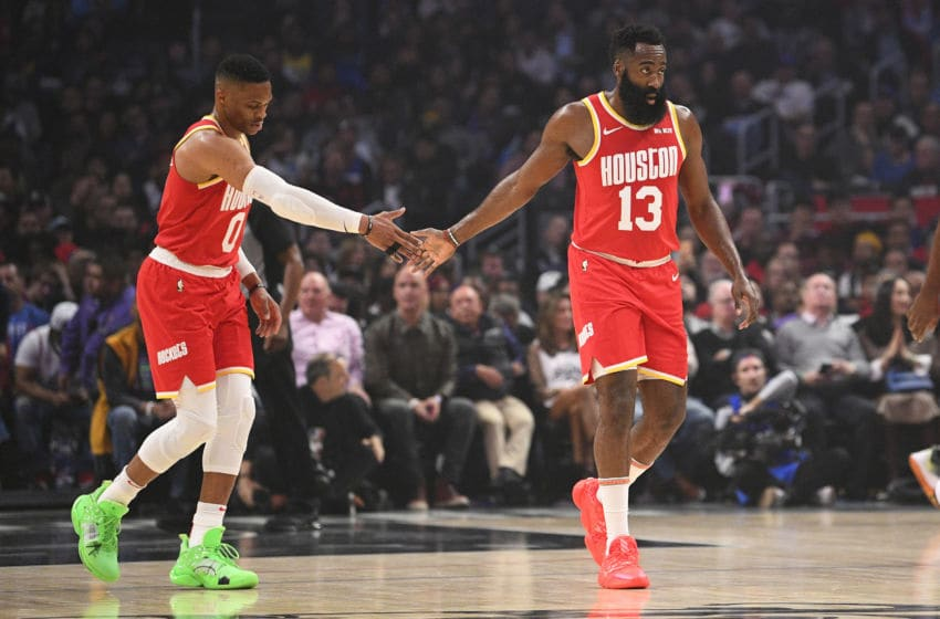 Houston Rockets Russell Westbrook James Harden (Photo by Brian Rothmuller/Icon Sportswire via Getty Images)