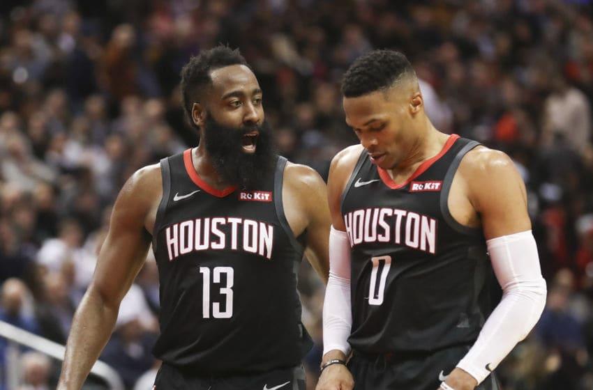 James Harden Russell Westbrook Houston Rockets (Richard Lautens/Toronto Star via Getty Images)