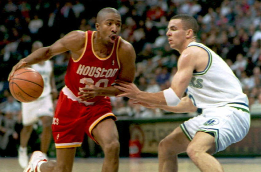 Houston Rockets Kenny Smith (Photo by PAUL BUCK/AFP via Getty Images)