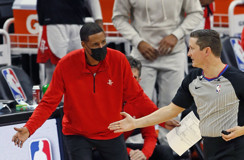 Stephen Silas head coach of the Houston Rockets (Photo by Ronald Cortes/Getty Images)