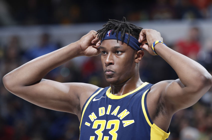 Myles Turner #33 of the Indiana Pacers (Photo by Joe Robbins/Getty Images)