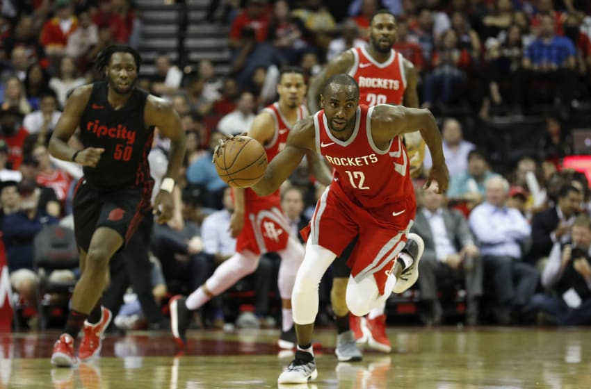 Luc Mbah a Moute #12 of the Houston Rockets (Photo by Tim Warner/Getty Images)