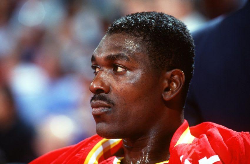Houston Rockets Hakeem Olajuwon (Credit: Tim Defrisco/ALLSPORT}
