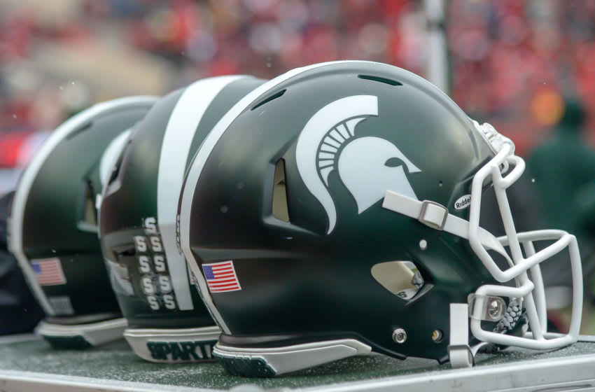 Michigan State football helmet (Photo by Steven Branscombe/Getty Images)