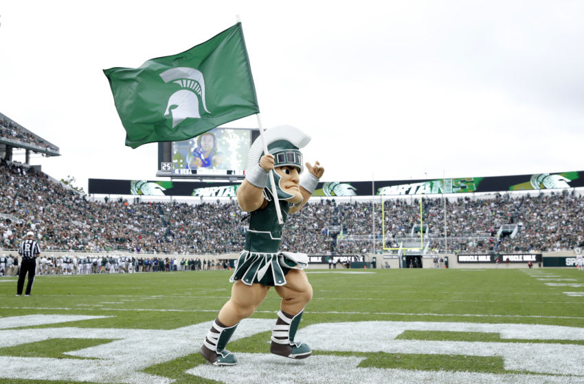 Michigan State football mascot, Sparty (Photo by Joe Robbins/Getty Images)
