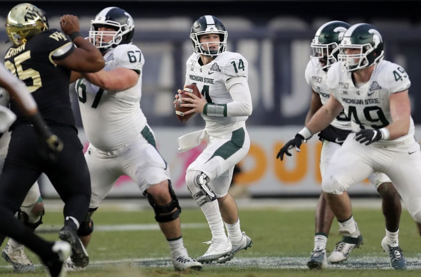 Brian Lewerke, Michigan State football (Photo by Adam Hunger/Getty Images)
