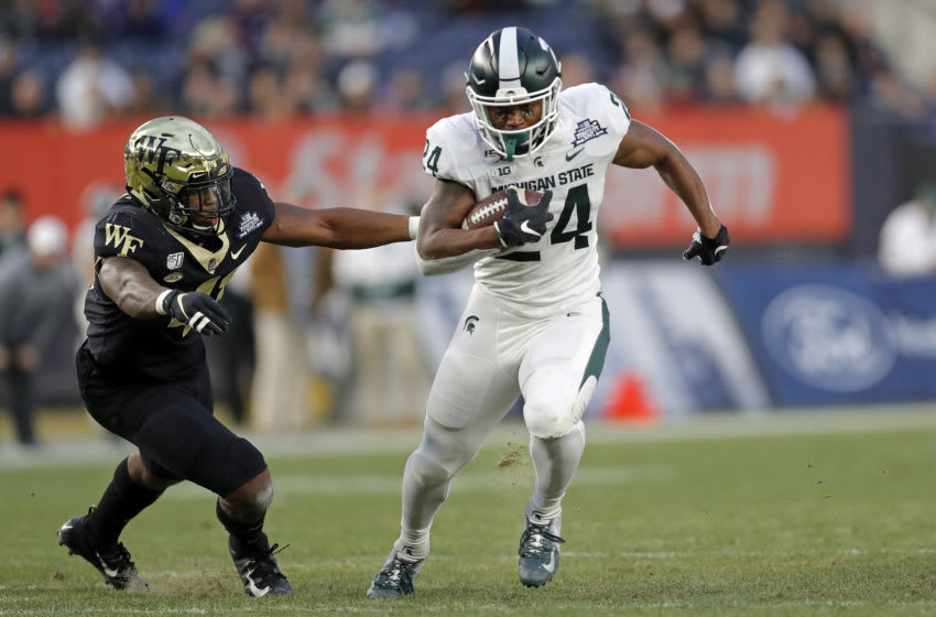 Elijah Collins, Michigan State football (Photo by Adam Hunger/Getty Images)
