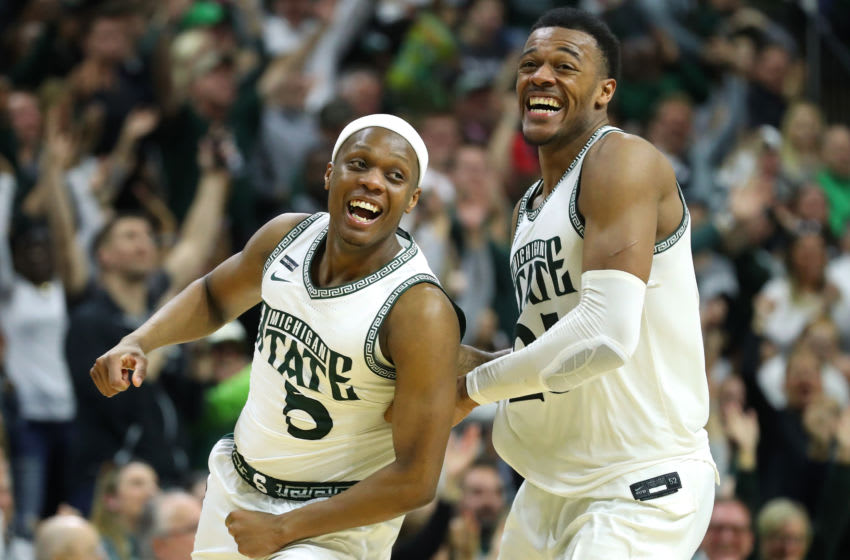 Cassius Winston and Xavier Tillman, Michigan State basketball (Photo by Gregory Shamus/Getty Images)