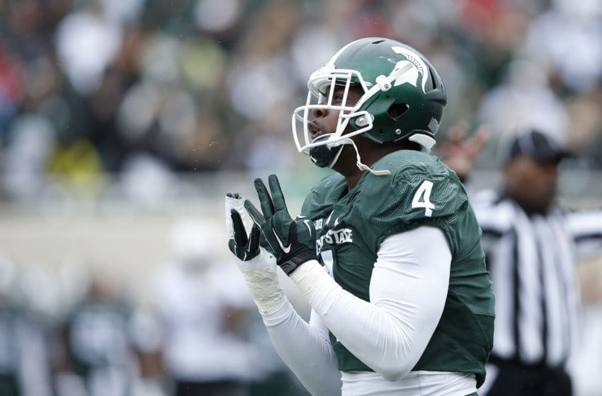 EAST LANSING, MI - OCTOBER 3: Malik McDowell