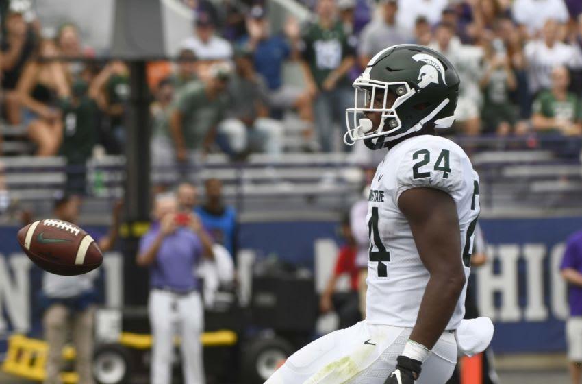 Elijah Collins, Michigan State football Mandatory Credit: Matt Marton-USA TODAY Sports