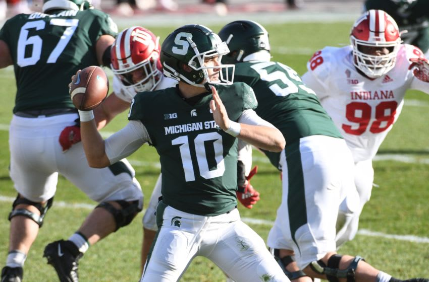 Payton Thorne, Michigan State football Mandatory Credit: Tim Fuller-USA TODAY Sports
