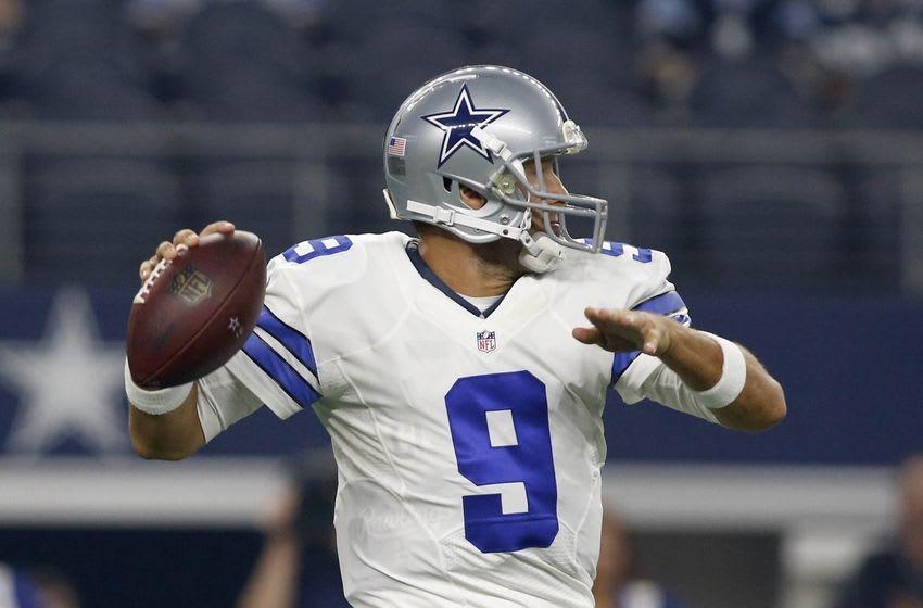 Dallas Cowboys quarterback Tony Romo (9) - Credit: Tim Heitman-USA TODAY Sports