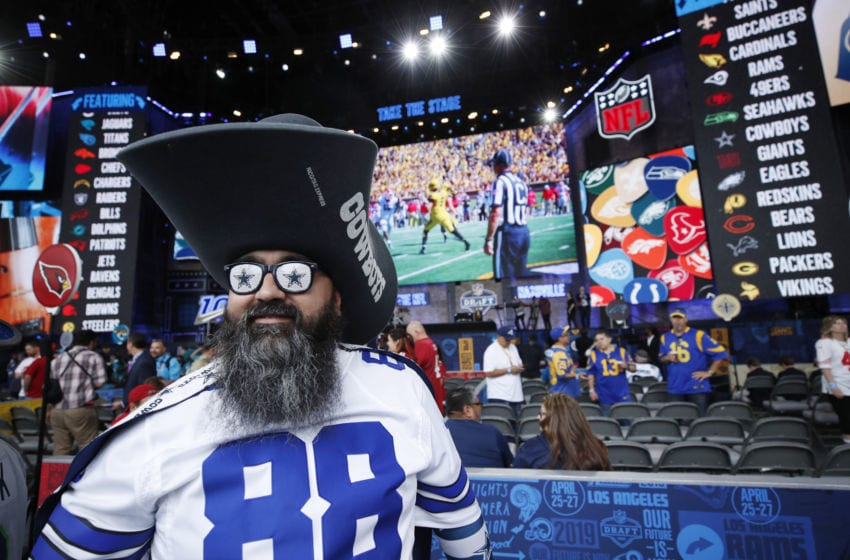 NASHVILLE, TN - APRIL 25: A Dallas Cowboys fan looks on prior to the start of the first round of the NFL Draft on April 25, 2019 in Nashville, Tennessee. (Photo by Joe Robbins/Getty Images)