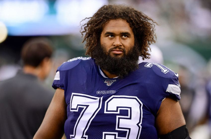 Joe Looney #73 of the Dallas Cowboys (Photo by Steven Ryan/Getty Images)