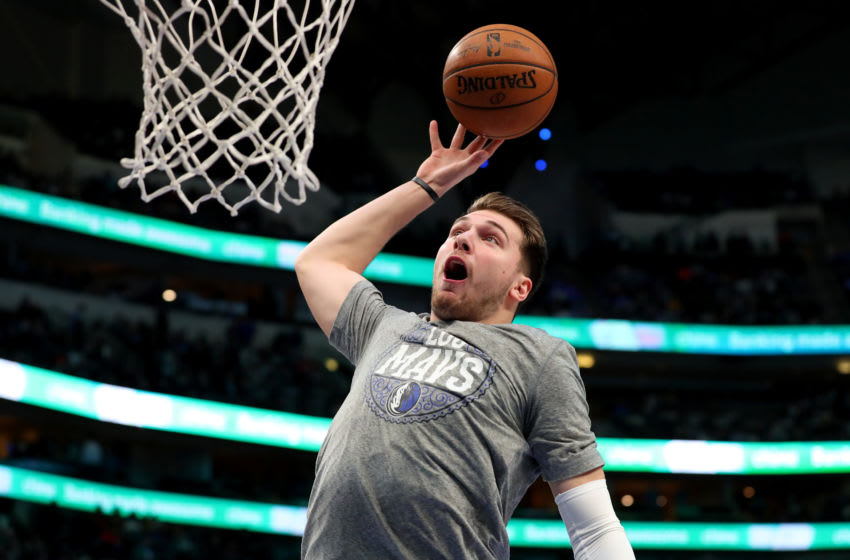 DALLAS, TEXAS - MARCH 04: Luka Doncic #77 of the Dallas Mavericks (Photo by Tom Pennington/Getty Images)