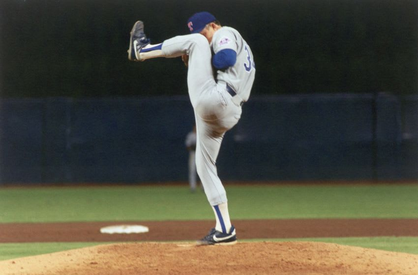 Nolan Ryan #34 of the Texas Rangers (Photo by Robert Riger/Getty Images)