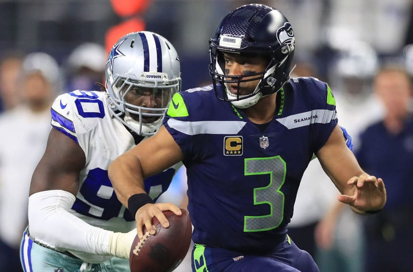 ARLINGTON, TX - DECEMBER 24: Russell Wilson (Photo by Ronald Martinez/Getty Images)