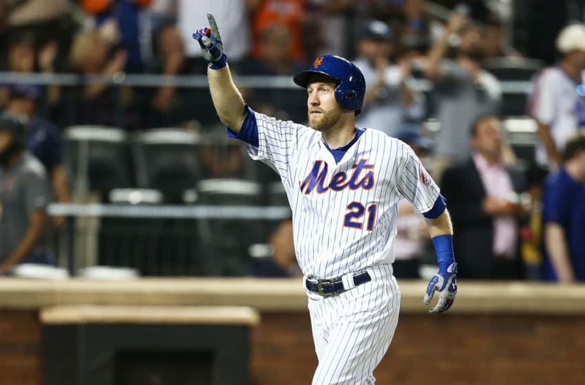 NEW YORK, NEW YORK - SEPTEMBER 11: Todd Frazier #21 of the New York Mets celebrates his second home run of the game in the fourth inning against the Arizona Diamondbacks at Citi Field on September 11, 2019 in the Queens borough of New York City. (Photo by Mike Stobe/Getty Images)