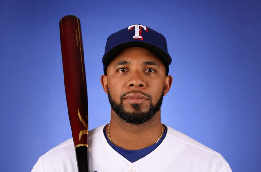 SURPRISE, ARIZONA - FEBRUARY 19: Elvis Andrus #1 of the Texas Rangers poses for a portrait during MLB media day on February 19, 2020 in Surprise, Arizona. (Photo by Christian Petersen/Getty Images)