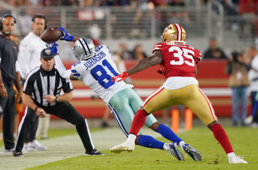 Jon'Vea Johnson #81 of the Dallas Cowboys (Photo by Thearon W. Henderson/Getty Images)