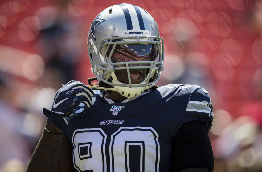 Demarcus Lawrence #90 of the Dallas Cowboys . (Photo by Scott Taetsch/Getty Images)