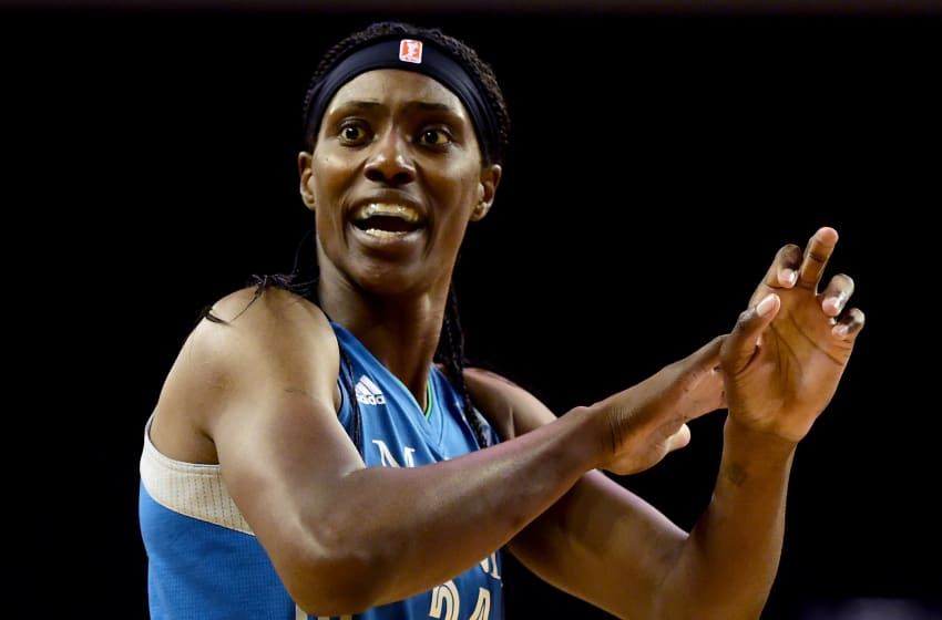 LOS ANGELES, CA - OCTOBER 14: Center Sylvia Fowles (Photo by Harry How/Getty Images)